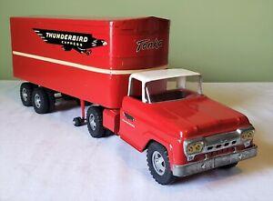 Tonka Toys Ford Cab Private Label THUNDERBIRD EXPRESS TT TRUCK 1960 ORIGINAL