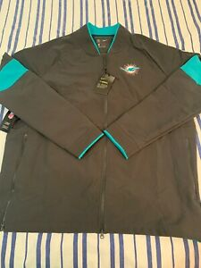 NIKE MIAMI DOLPHINS THERMA PERFORMANCE ON-FIELD JACKET NWT MENS SIZE XL