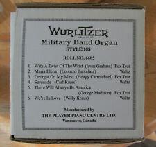 Wurlitzer Style 165 Band Organ Roll No. 6685 Recut VG Great Tunes Free Ship