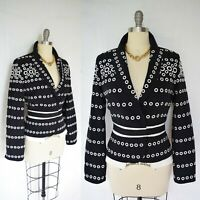 Couture Gianfranco FERRE embroidered eyelet tuxedo dress blazer jacket $2200 46