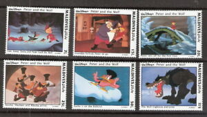 Maldives 1993 Disney Peter and the Wolf Complete Set (6) MNH (SC# 1919-1924)