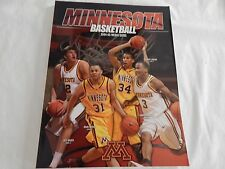Minnesota Gophers Basketball 2004-05 Media Guide! New! Never Opened!