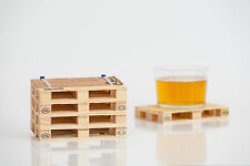 4 Getränkeuntersetzer Holz EUR-Palette Tischdeko Getränke Untersetzer Partydeko