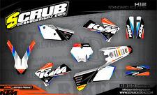 KTM Dekor EXC EXC-f 125 250 300 450 525 2005 2006 2007 '05 '06 '07 Grafik SCRUB