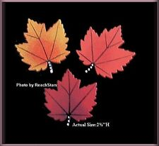 Fall Maple Leaf Metal Magnets Set of 3 by ROEDA® Free U.S. Shipping
