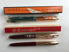 LOT 3X JEWEL 72 + WING SUNG 233 VINTAGE BOX New Fountain pen RARE ball 14k china