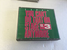 Frank Zappa You Can't Do That On Stage Anymore Vol. 3 2 CD CDDZAP 17 MINT/VG