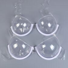 3/4 Cup Invisible Transparent Bras Push Up Women Underwire Shoulder Straps