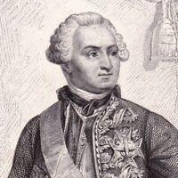Portrait XIXe Ulrich Frédéric Woldemar Comte de Lowendal Siège de Bergen-op-Zoom