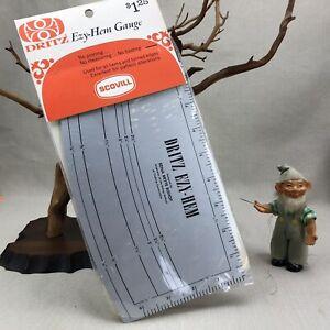"Scovill Dritz Vintage EZY-HEM Gauge Measuring Tool #617  5"" x 9"""