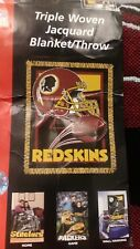 NFL WASHINGTON REDSKINS  WOVEN  BLANKET THROW  BRAND NEW