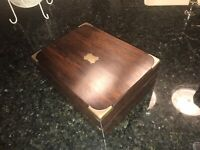 Small Child's? Rosewood & Brass Victorian Antique Writing Slope For Restoration