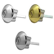 Ingersoll SC1 Rim Cylinder Door Lock High Security Satin Chrome Brass 3 Keys