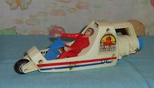 vintage Six Million Dollar Man Tower of Power STEVE AUSTIN FIGURE & DRAGSTER