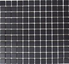 Mosaico piastrella ceramica nero antiscivolo R10 bagno: 18B-0311-R10 | 1 foglio