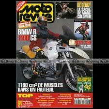 MOTO REVUE N°3126 BMW R1100 GS HONDA 250 ATM KAWASAKI ZXR GODIER-GENOUD BAYLE 94