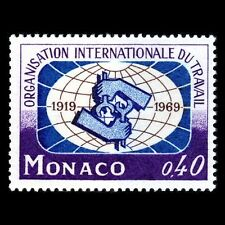 Monaco 1969 - 50th Anniversary of ILO - Sc 748 MNH