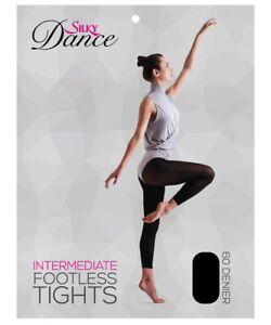 Silky Adult Womens Intermediate Dance Footless Tights S M L XL