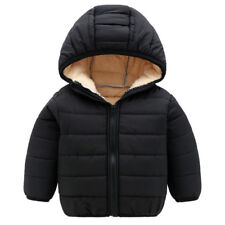 Toddler Kids Baby Boys Jacket Winter Warm Clothes Outwear Hooded Coat Zipper