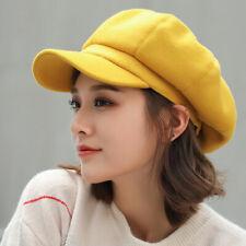 Auutmn Winter Hats for Women Plain Octagonal Newsboy Cap Ladies Winter Beret Hat