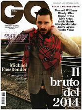 GQ ITALIA GENTLEMEN'S QUARTERLY 171 dicembre 2013 FASSBENDER PHARRELL SELASI