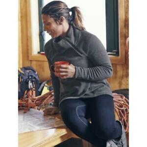 ATHLETA Cozy Karma Asym Pullover Sweatshirt XL X-Large | Charcoal Grey Top NEW