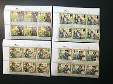 Gb Qeii Sg1620-1623 The Civil War Set Cylinder Blocks of 6 1992 Stamps Mnh