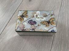 NEW Butterfly Design  Glass Effect Jewellery Box
