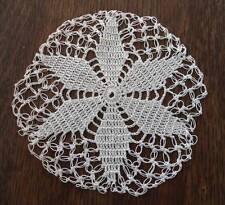 "Vintage Set Knotted Crochet Lace Coasters Doilies Round 4"""