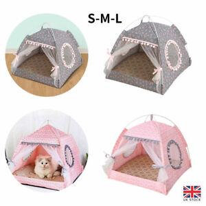 Pet Dog Cat Nest Tent House Kennel Puppy Cushion Warm Soft Sleeping Fluffy Beds