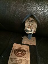 Boyds  Bears Betsey...Home of The Brave Mini Birdhouse 1 set of 2