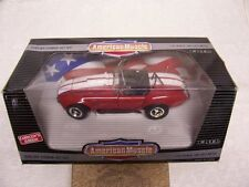 1/18 1965 RAGOON RED COBRA 427 ROADSTER ORIGINAL ERTL DIECAST CAR-MIB