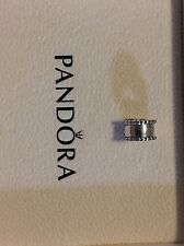 Authentic Pandora SS Fixed Bead Clip - #79267 - Retired