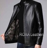 ROXA URBAN Men's Genuine Lambskin Real Leather Jacket Premium Black Stylish Coat