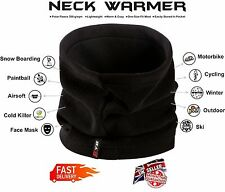 KYB Mens Womens Winter Thermal Fleece NECK WARMER Tube Snood Scarf Face Mask UK