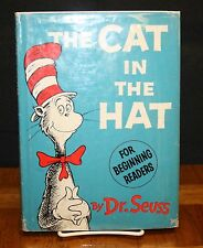 THE CAT IN THE HAT BY DR. SEUSS TRUE 1ST EDITION IN 1ST EDITION DUST JACKET