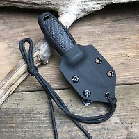 Custom Handmade Black Kydex Sheath For Mora Eldris Knife With Small Tek-Lok