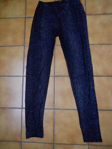 legging M noir avec paillettes MIM