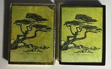 Vtg 50 ANTIOCH BOOKPLATES Windswept Trees in chartreuse Chinese/Japanese style