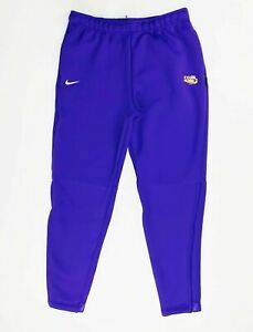 Nike LSU Tigers Team Therma Heavy Pant Men's Large CI4461 Purple Pockets