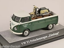 VW T1 PICK UP & ZUNDAPP BELLA  in Green 1/43 scale model PREMIUM CLASSIXXS