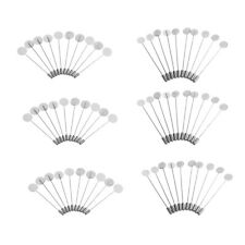 60pcs Wholesale Findings Brooch Pin Stick Jewelry 10/15mm Empty Pad Findings