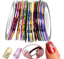 10 pcs Mixed Colours Nail Art Pretty Rolls Striping Tape Line Decoration Sticker