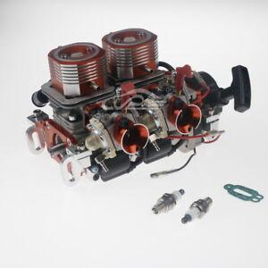 58CC Two Cylinder Gas Engine for 1/5 RCMK ZENOAH Marine Gas Engine RC Boat