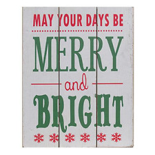 Merry and Bright Wall Plaque