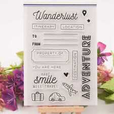 Adventure Travel Transparent Silicone Clear Stamp Diary Scrapbooking DIY Decor
