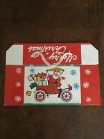 Vintage Christmas Santa Claus Holiday Greetings Candy Container Box USA
