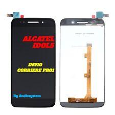 DISPLAY LCD+ TOUCH SCREEN ALCATEL PER ONE TOUCH IDOL 5 OT-6058D NERO VETRO NUOVO
