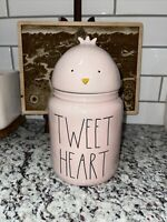 Rae Dunn Easter Canister Pink TWEET HEART 10 Inch With Chick Topper