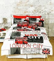 GREAT KNOT LONDON LANDMARK DUVET COVER SET QUILT BEDDING EASY CARE BED LINEN